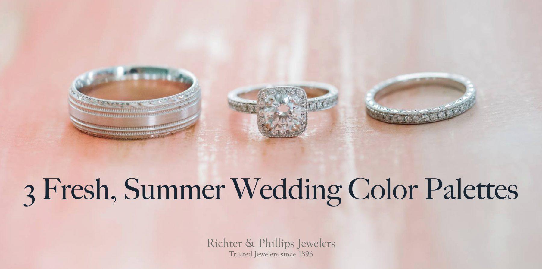 3 Fresh Summer Wedding Color Palettes
