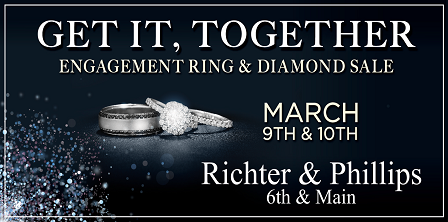 Engagement Ring & Diamond Sale   March 9 & 10