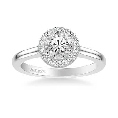 Diamond Halo Engagaement Ring