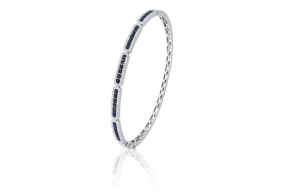 Sapphire & Diamond Bangle Bracelet