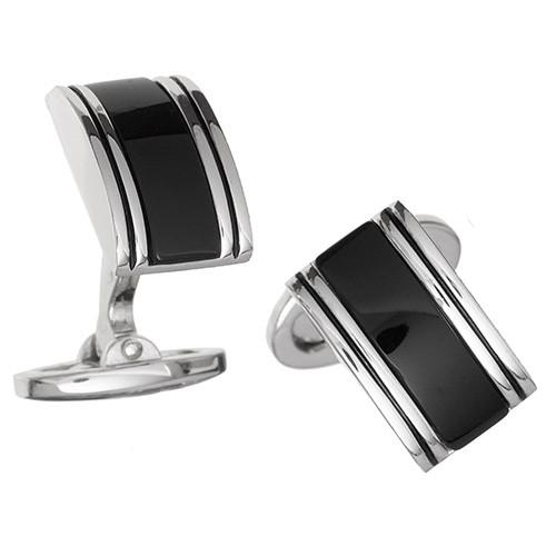Rounded Rectangular Gemstone Cufflinks