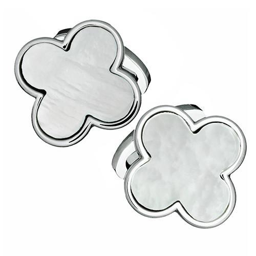 Gemstone Four Leaf Clover Cufflinks
