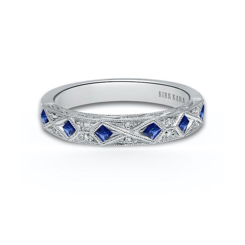 Diamond & Sapphire Wedding Band