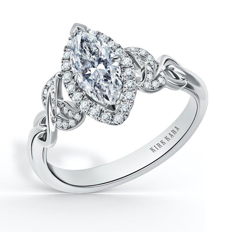Kirk Kara Diamond Halo Engagement Ring