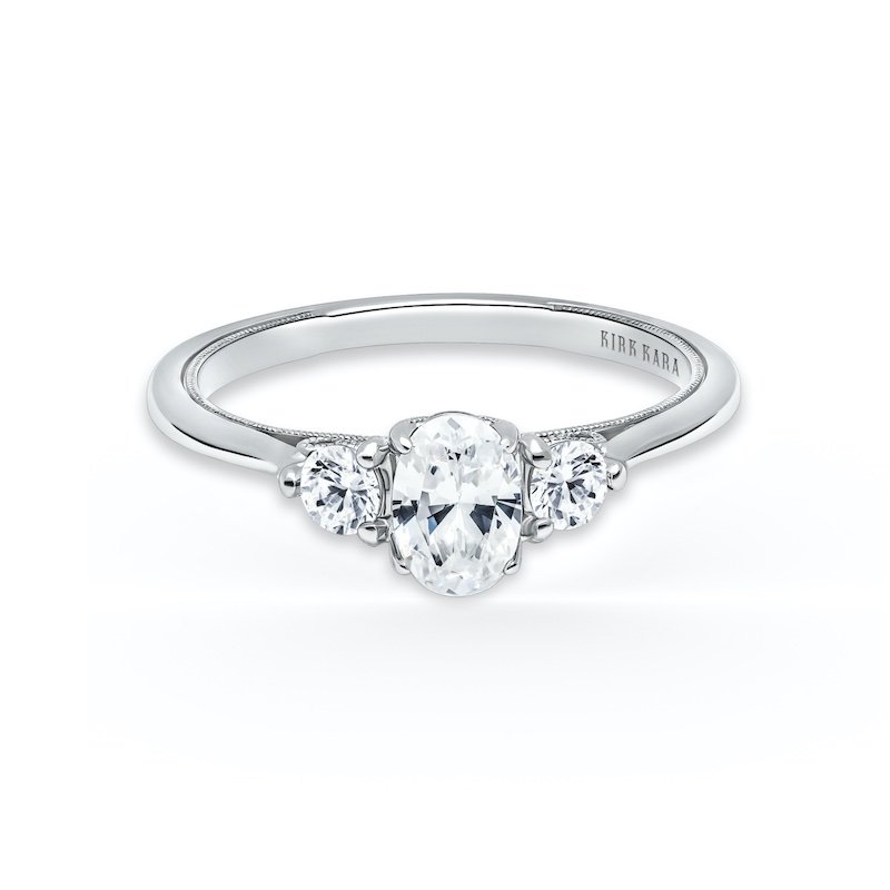 Diamond Three Stone Engagement Ring