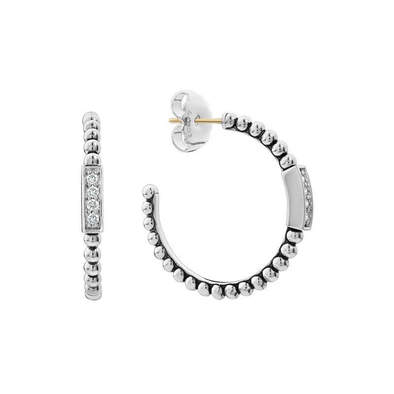 Caviar Spark Hoop Earrings