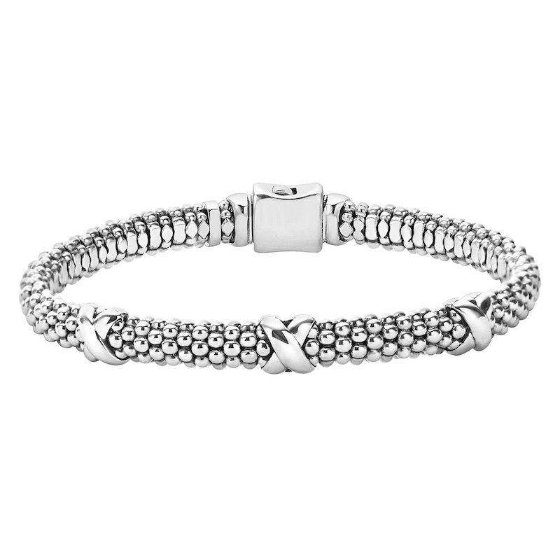 Caviar Beaded X Bracelet