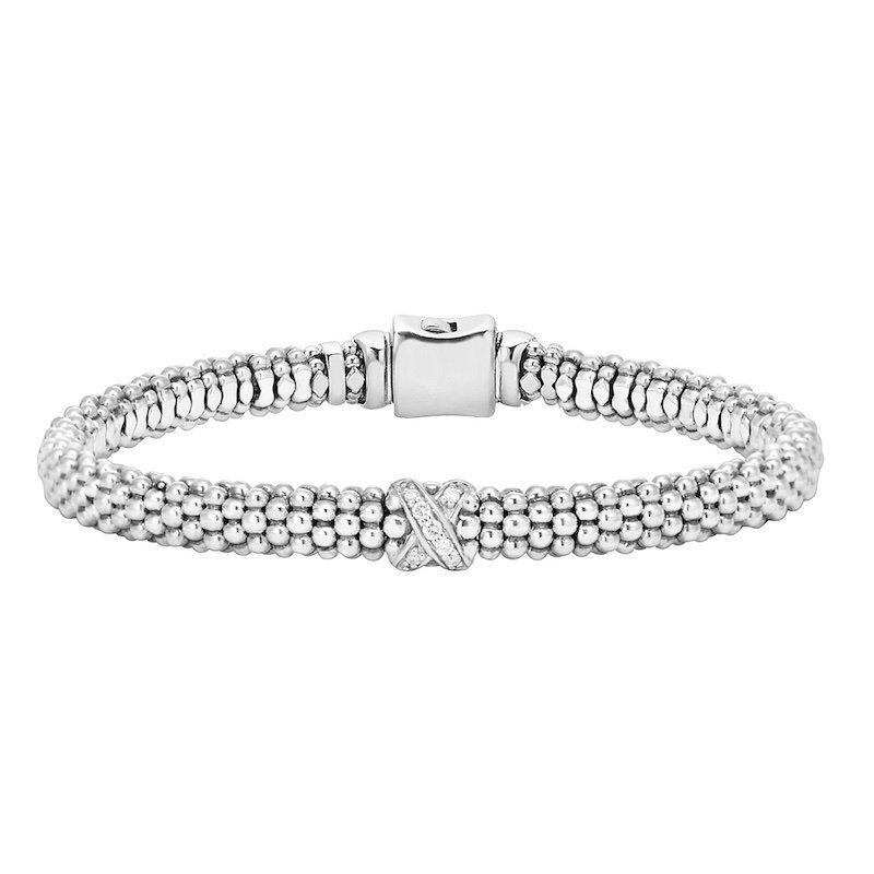 Diamond Single Station X Bracelet