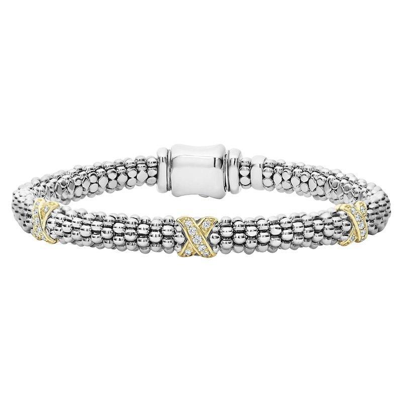 Three Diamond X Bracelet