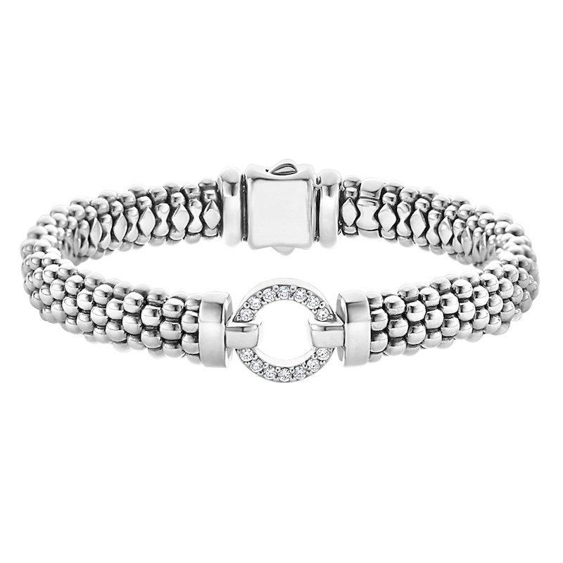 Enso Caviar Beaded Bracelet