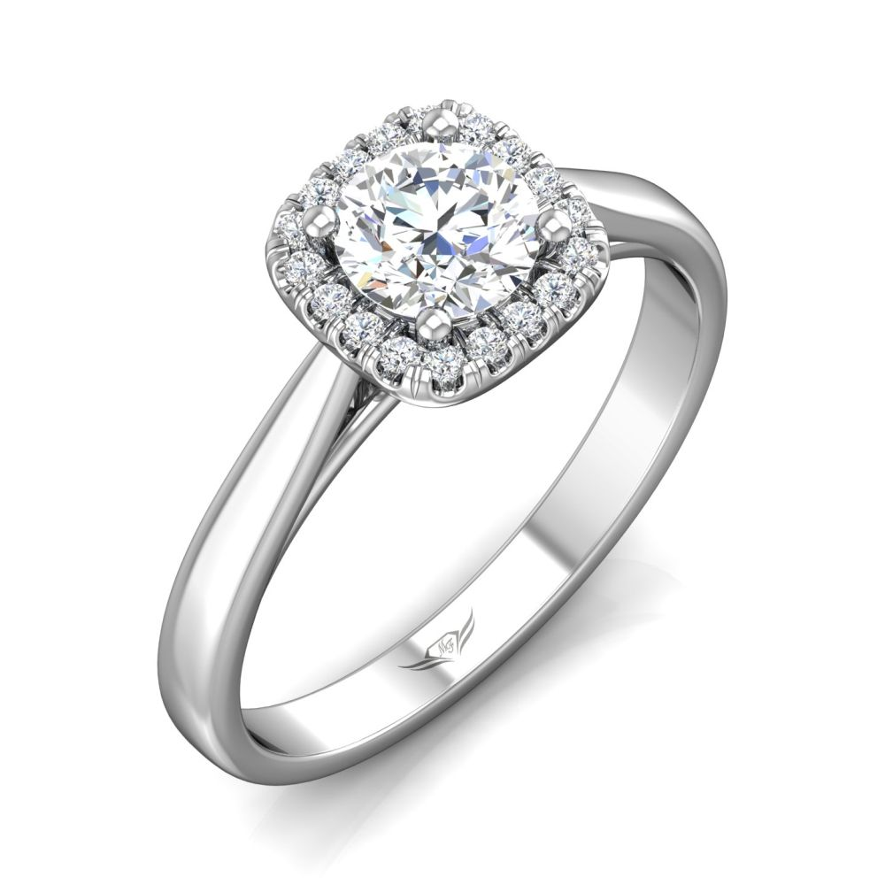 Solitaire Halo Engagement Ring