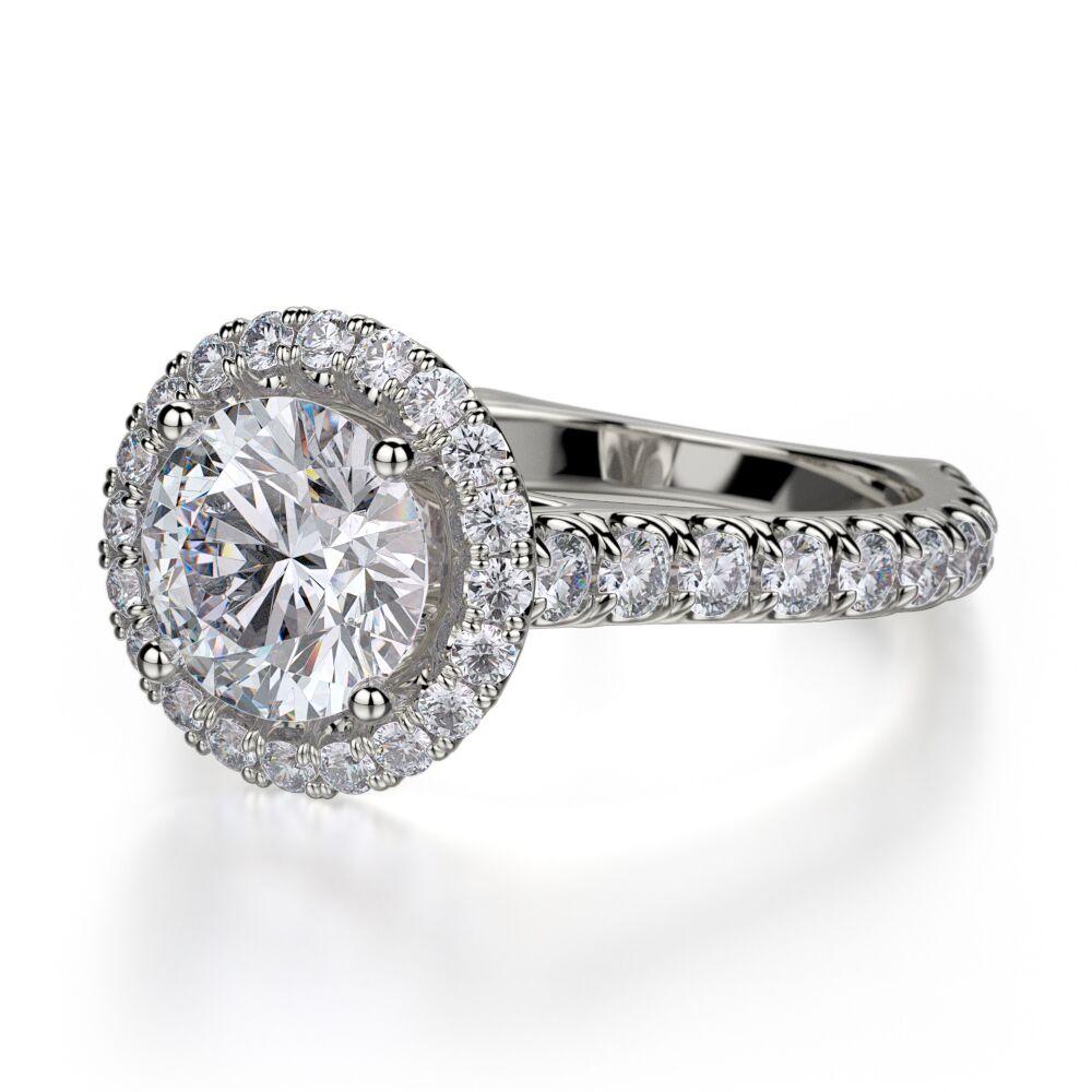 Michael M Diamond Halo Engagement Ring