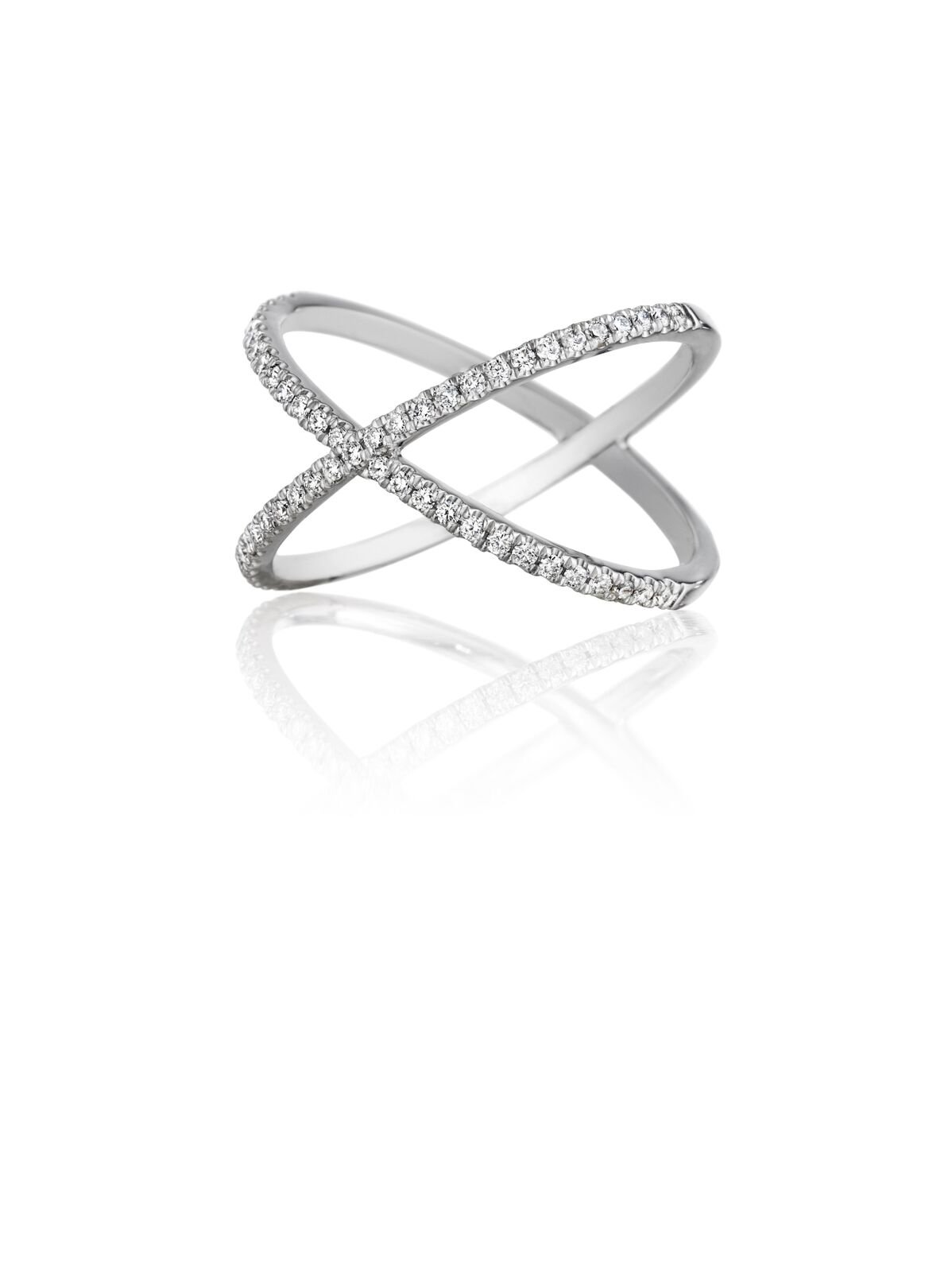 Criss-Cross Diamond Band