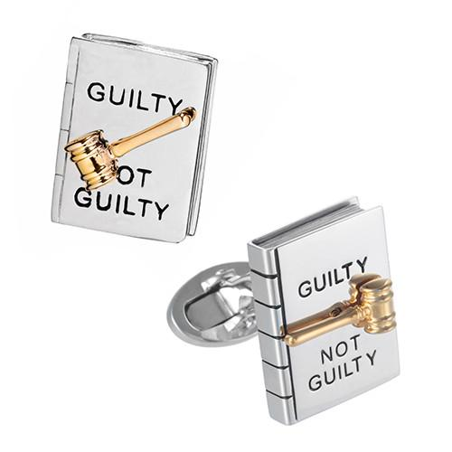 Guilty or Not Guilty Spinner Cufflinks