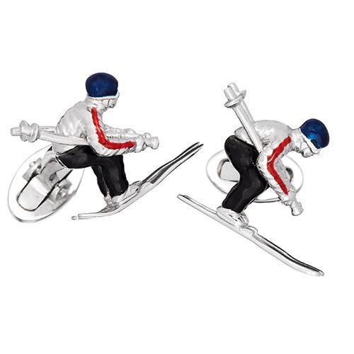 Skier Moving Cufflinks