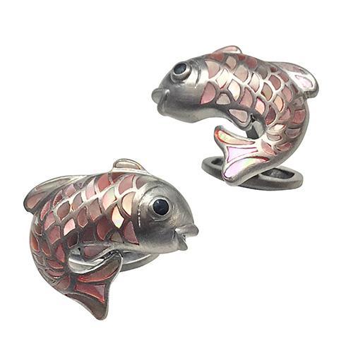 Gemstone Koi Fish Cufflinks