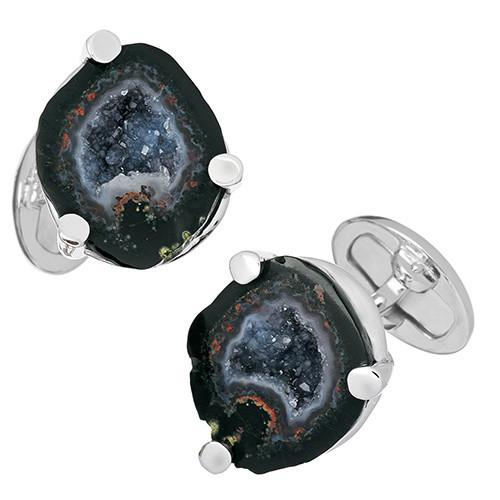 Druzy Crystallized Gemstone Cufflinks