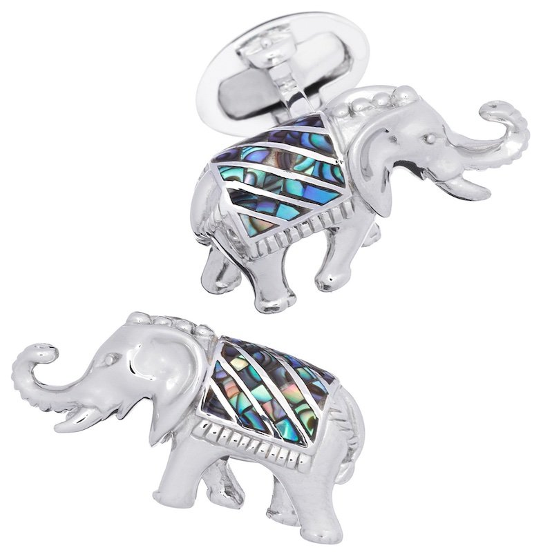 Gemstone Elephant Cufflinks