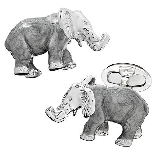 Enameled Elephant Cufflinks