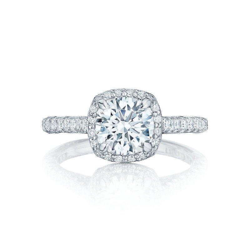 Petite Crescent Diamond engagment ring
