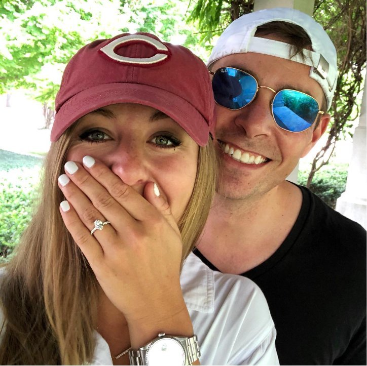 Surprised & Happy Couple After Engagement