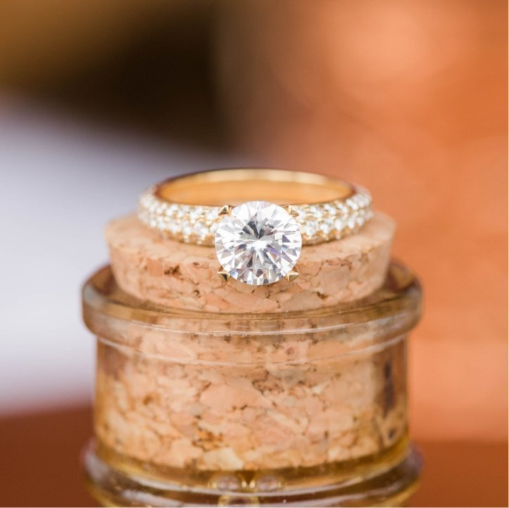 Engagement Ring on Bottle Cork