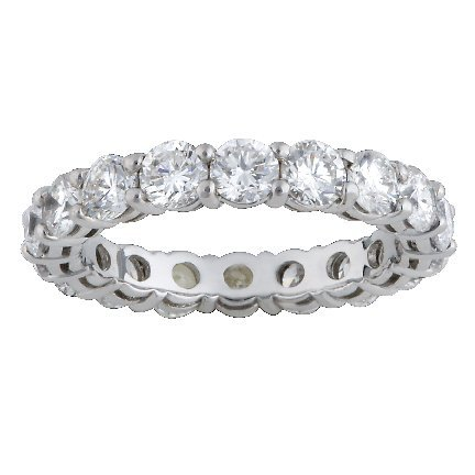 14K Shared Prong Eternity Band