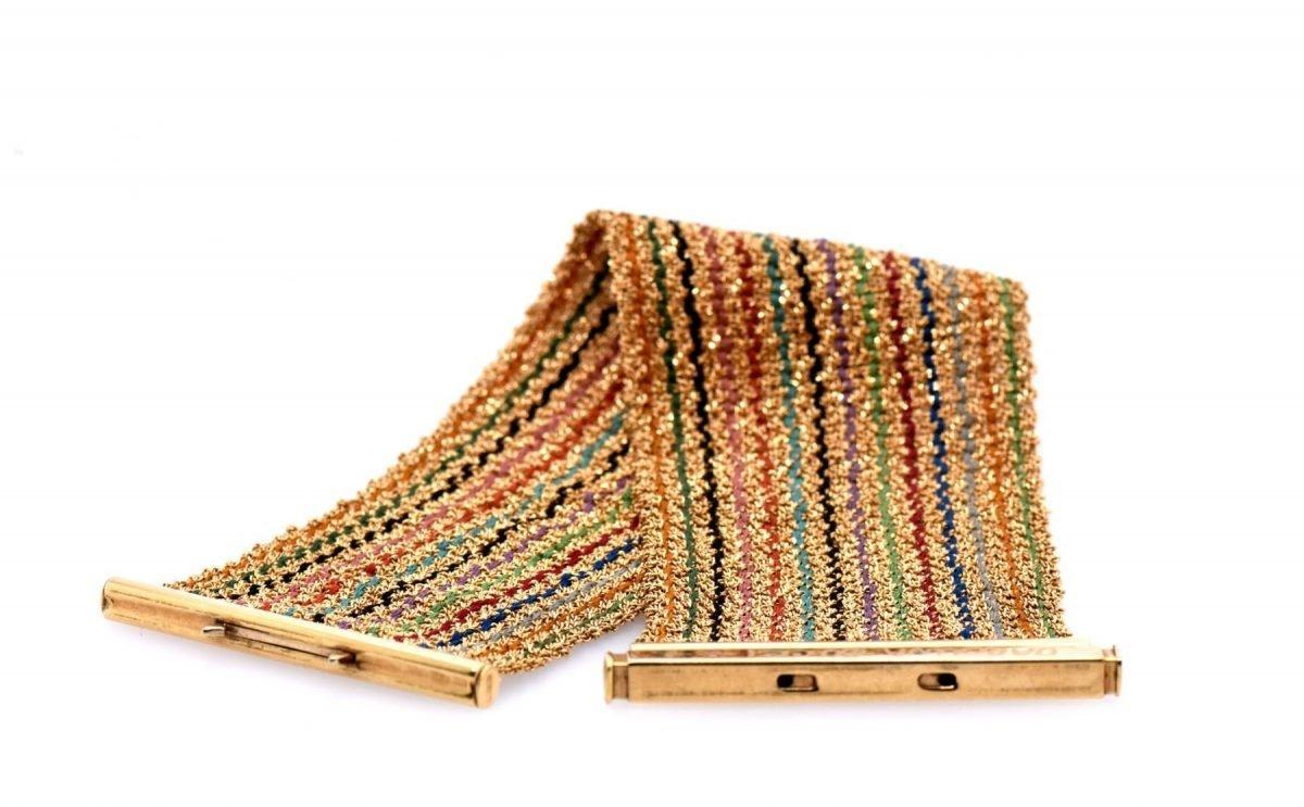 Carolina Bucci 18K Rainbow Woven Bracelet
