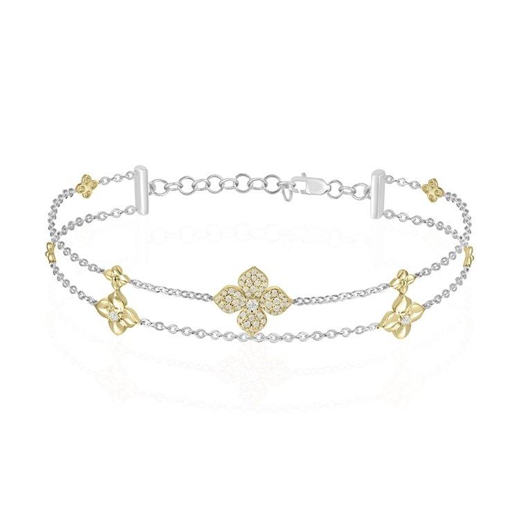 Diamond Flower Design Bracelet
