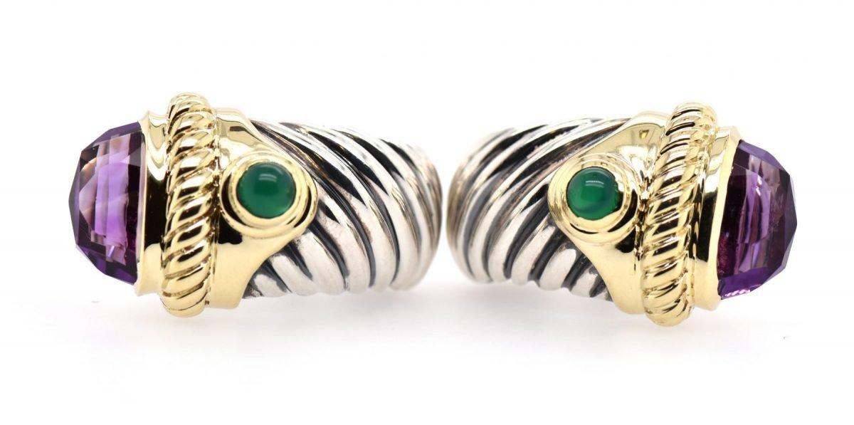 David Yurman Renaissance Amethyst Earrings