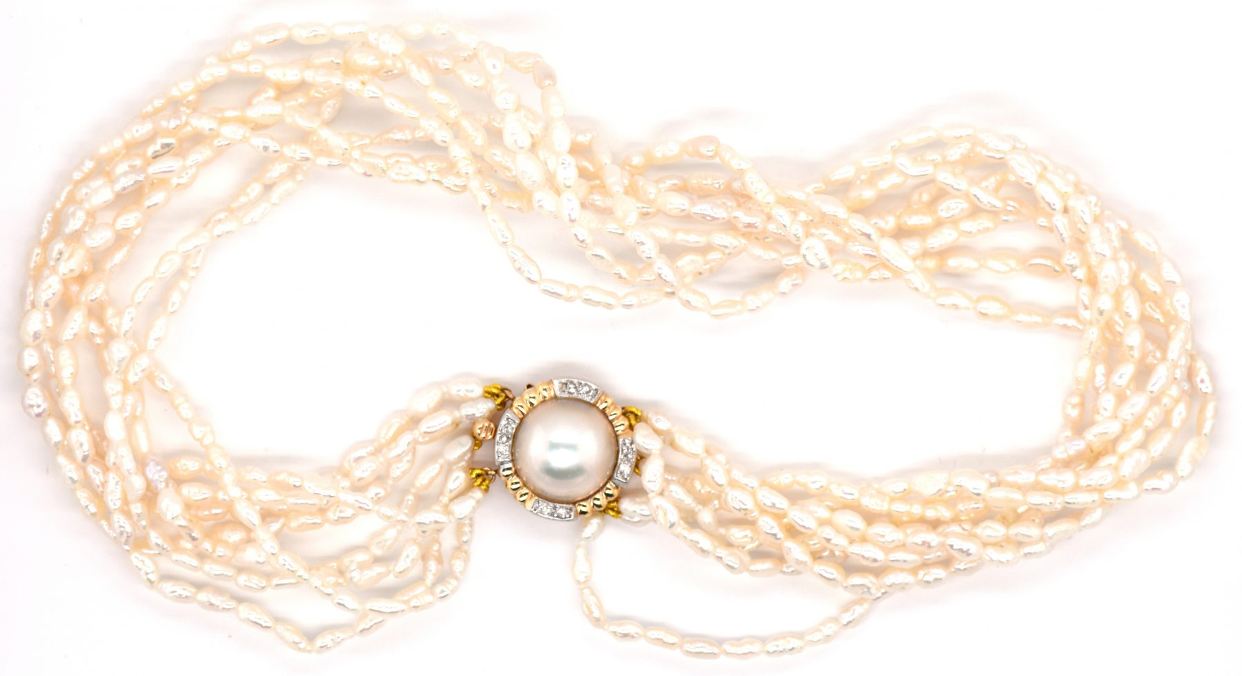 8 Strand Fresh Water Pearl Necklace