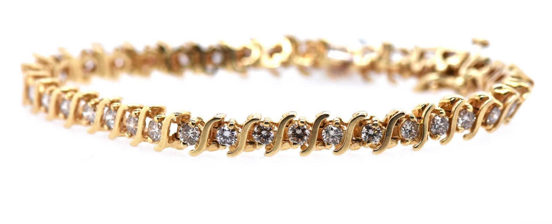 "Diamond ""S"" Link Bracelet"