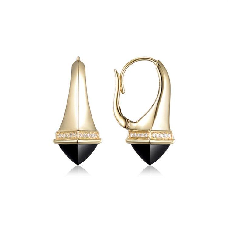 Diamond & Black Onyx Earrings