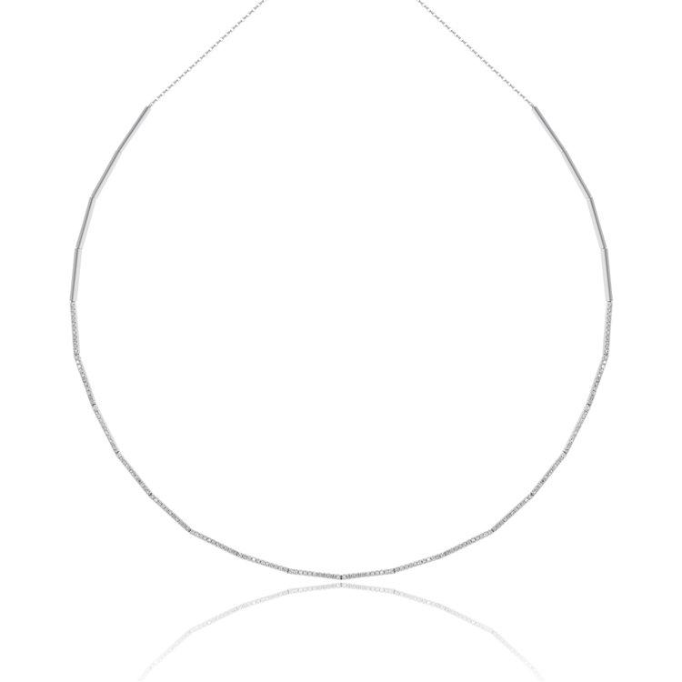 Luvente 14k White Gold Diamond Necklace