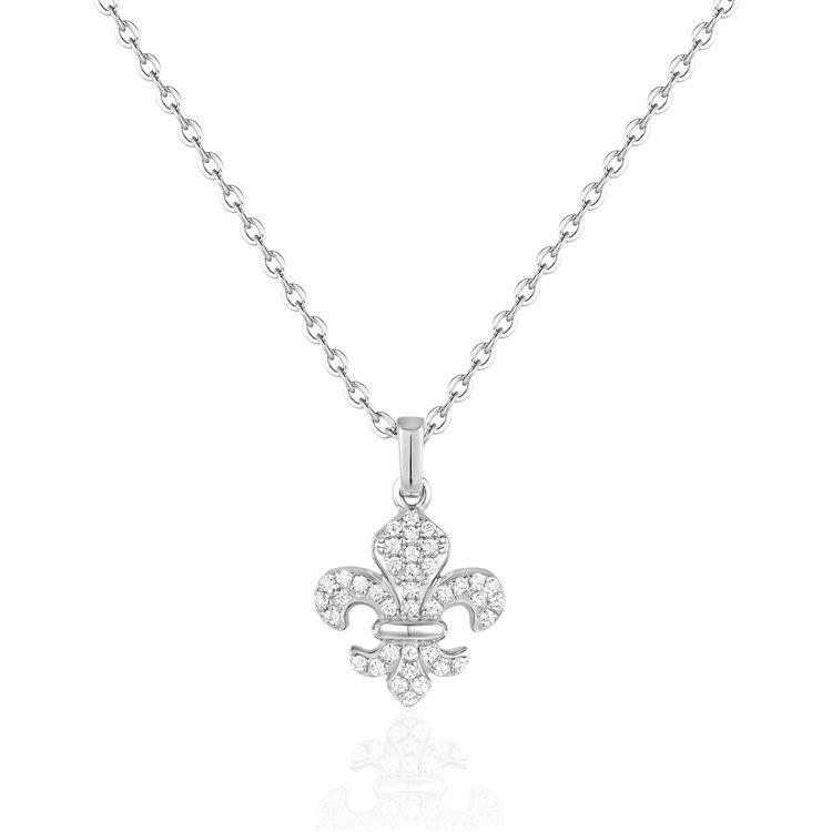 Diamond Fleur-de-lis Pendant