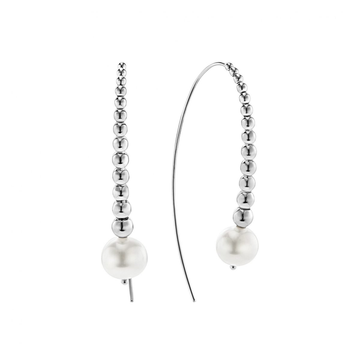 Caviar Pearl Hoop Earrings
