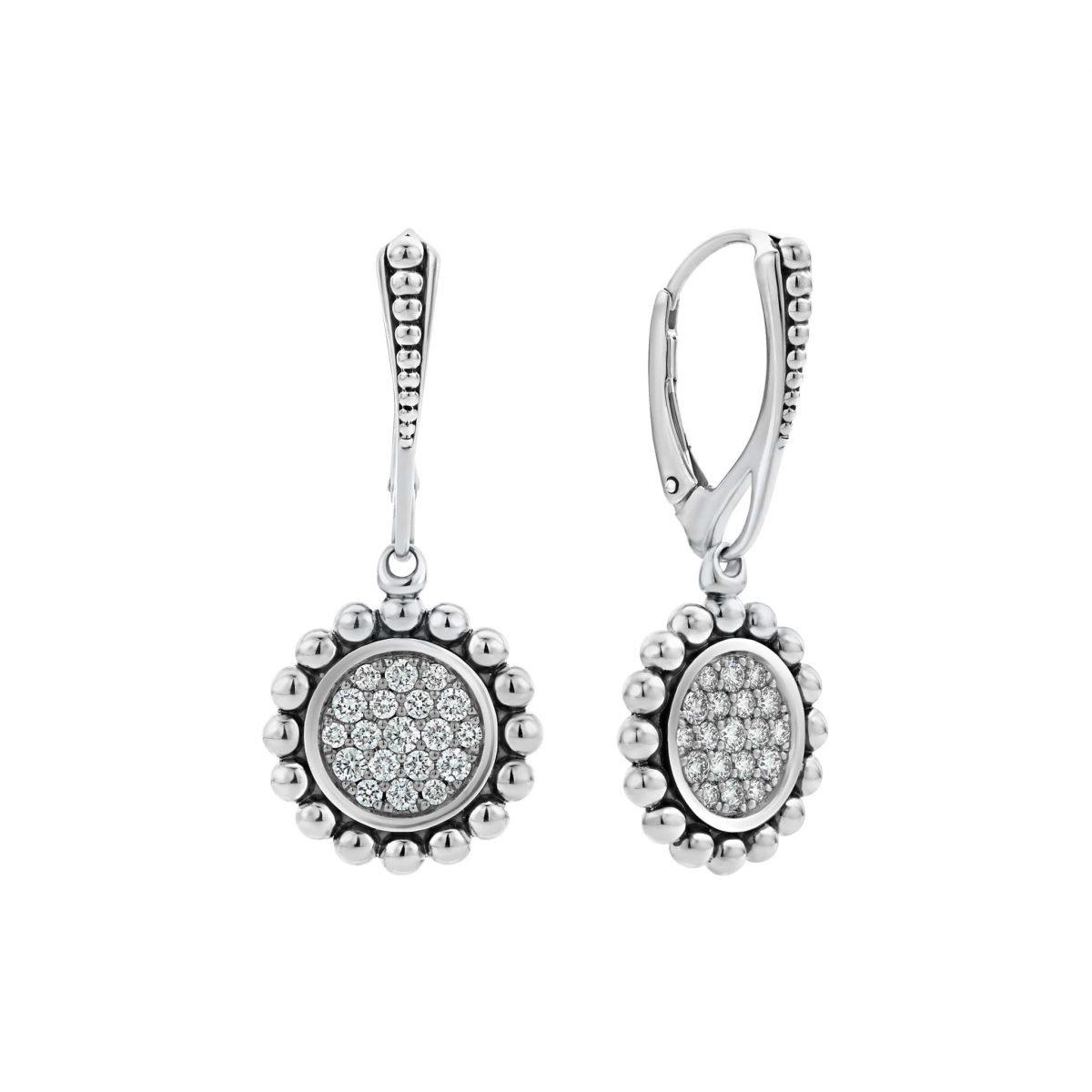 Caviar Spark Diamond Drop Earrings