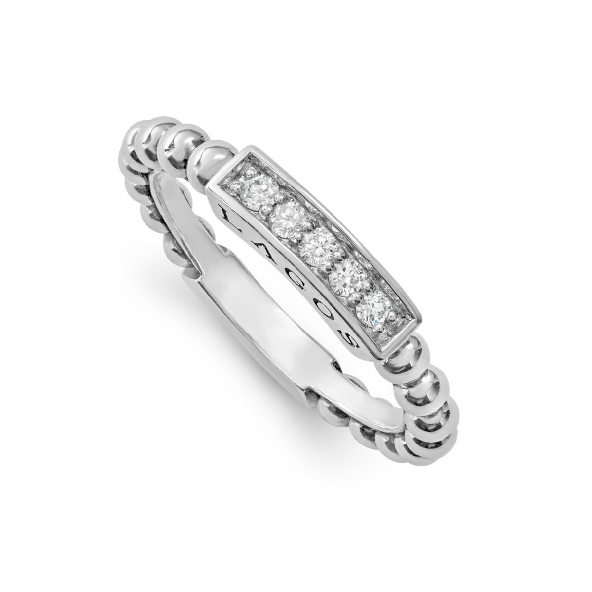 Caviar Spark Stacking Ring