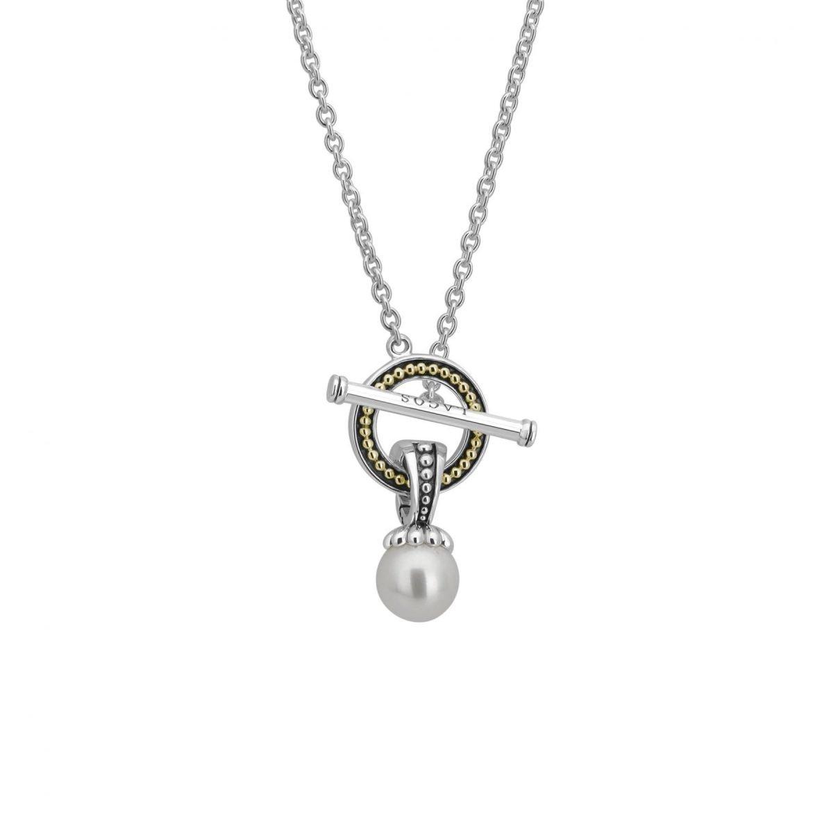 Luna Pearl Toggle Necklace