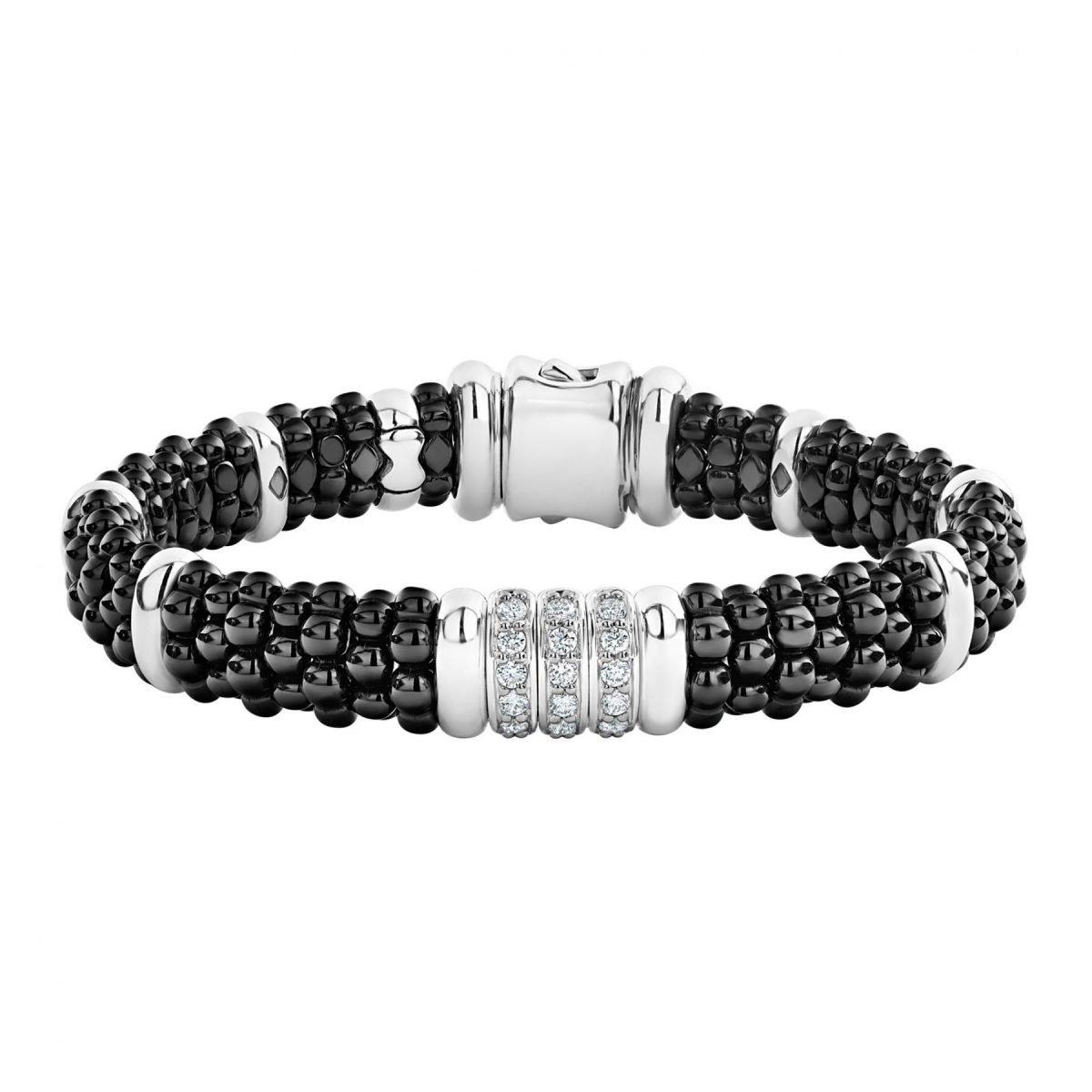Diamond Black Caviar Bracelet
