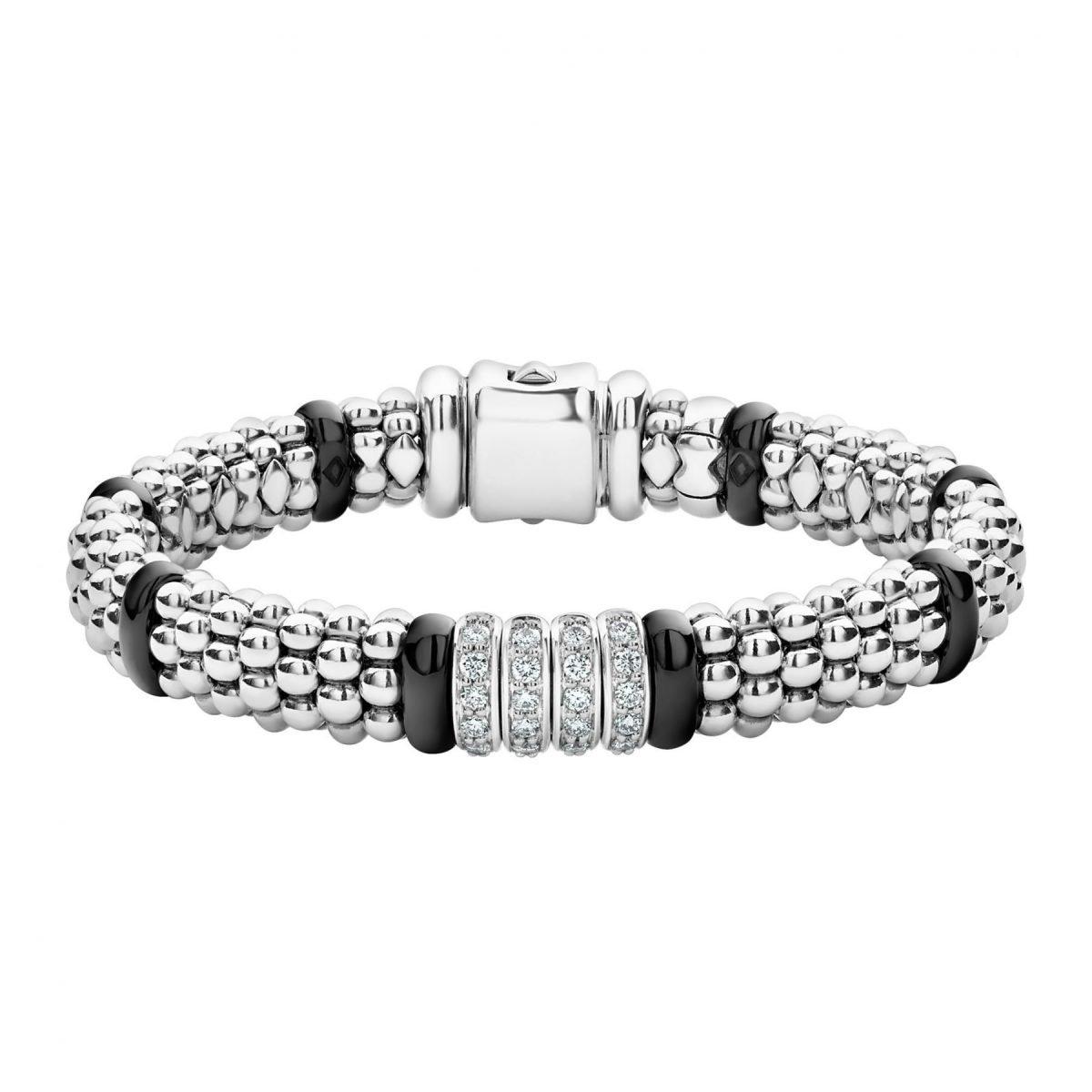 Lagos Diamond Black Caviar Bracelet