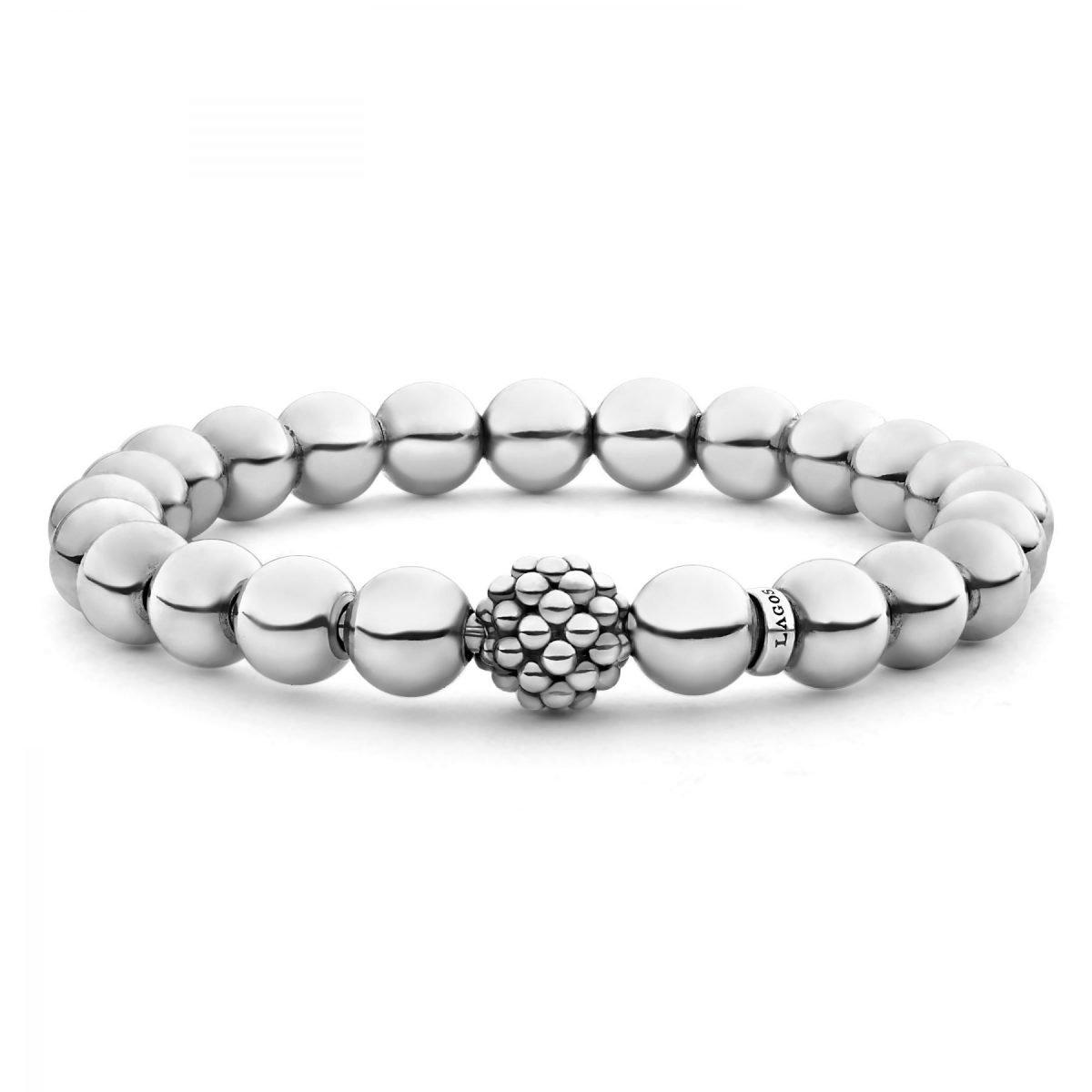 Caviar Silver Bead Bracelet