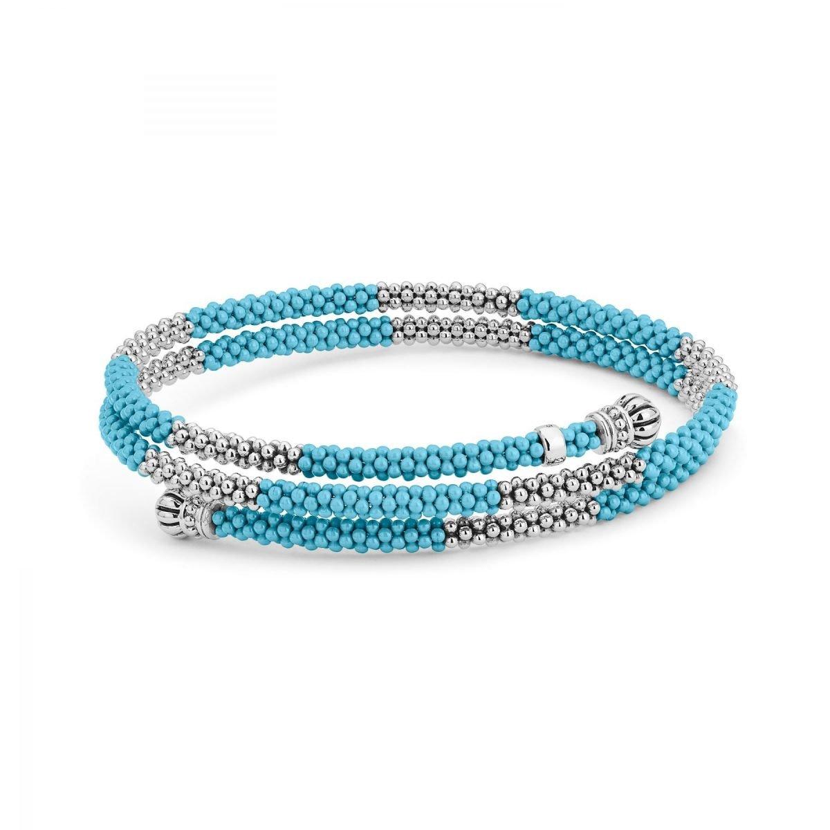 Blue Caviar Ceramic Wrap Bracelet