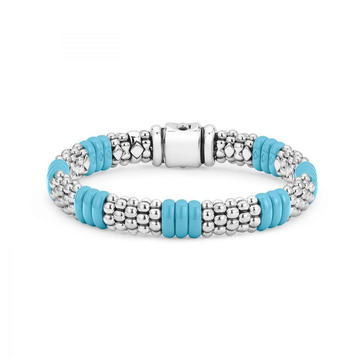 Blue Caviar Beaded Bracelet
