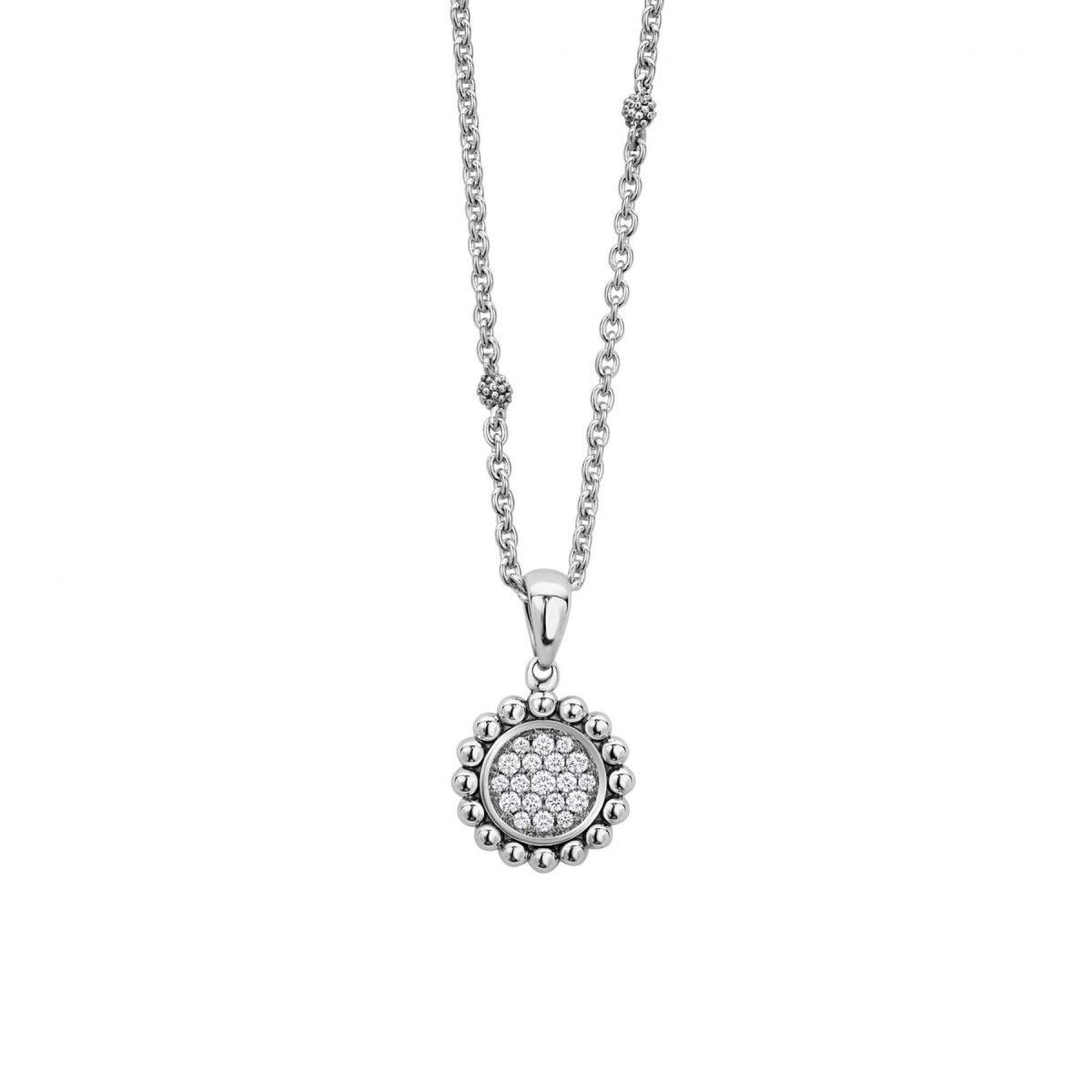Caviar Spark Diamond Pendant Necklace