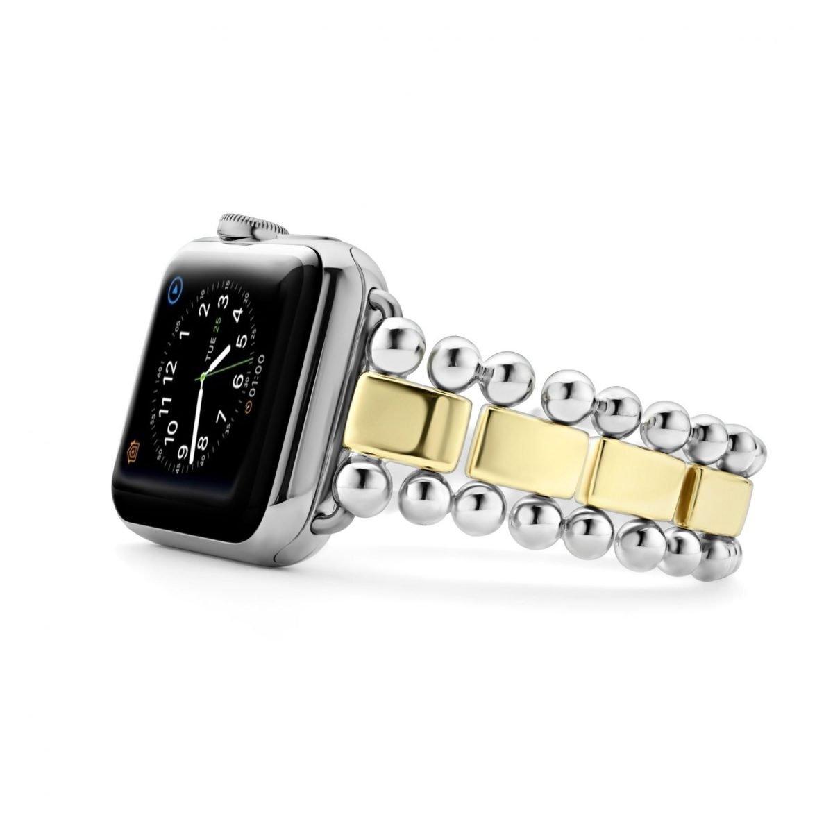 Smart Caviar Sterling Silver 18K Gold Watch Bracelet