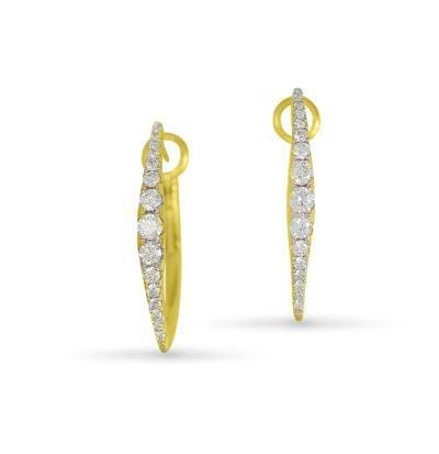 Diamond Marquise Hoop Earrings