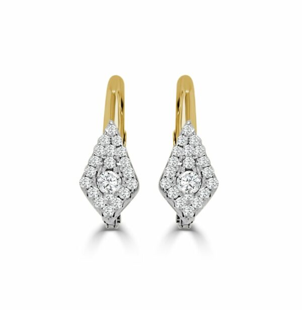 Diamond Kite Shape Earrings
