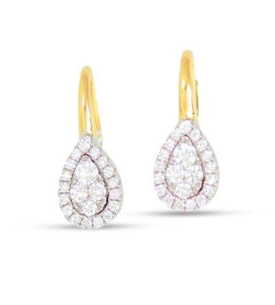 Diamond Pear Shape Earrings
