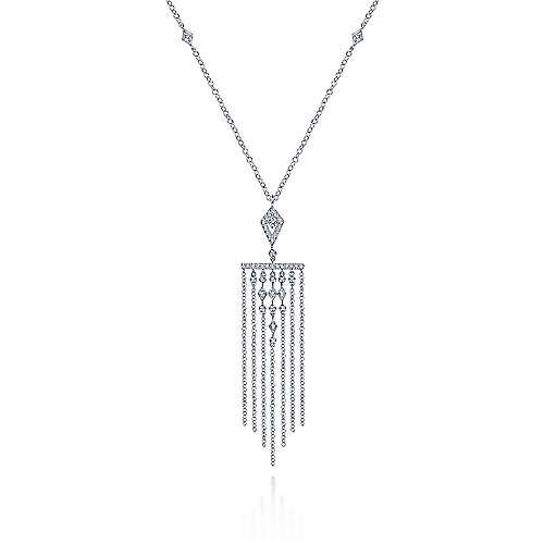 Fringe Diamond Pendant Necklace
